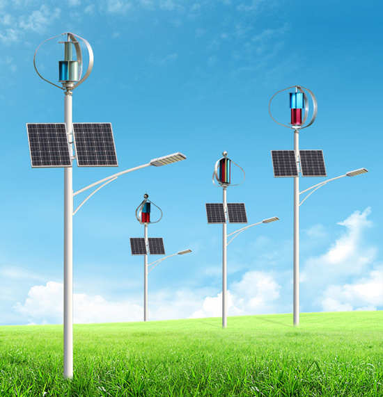 Solar and Wind Hybrid System 200W off-Grid Wind Generator Controlled Wind Mill for Home