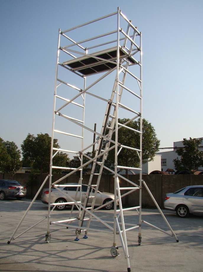 Aluminum Scaffold Tower : Double width aluminum scaffolding tower photos pictures