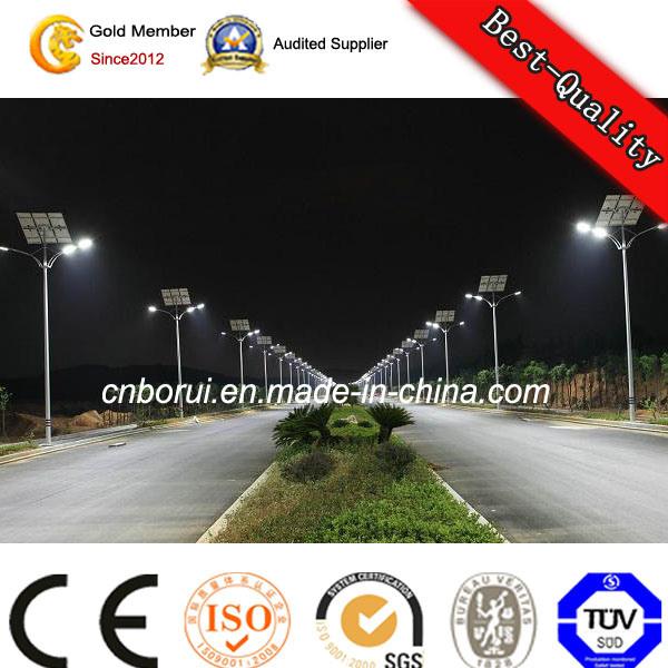 Hot DIP Galvanised Steel Outdoor Solar Street LED Lighting Pole