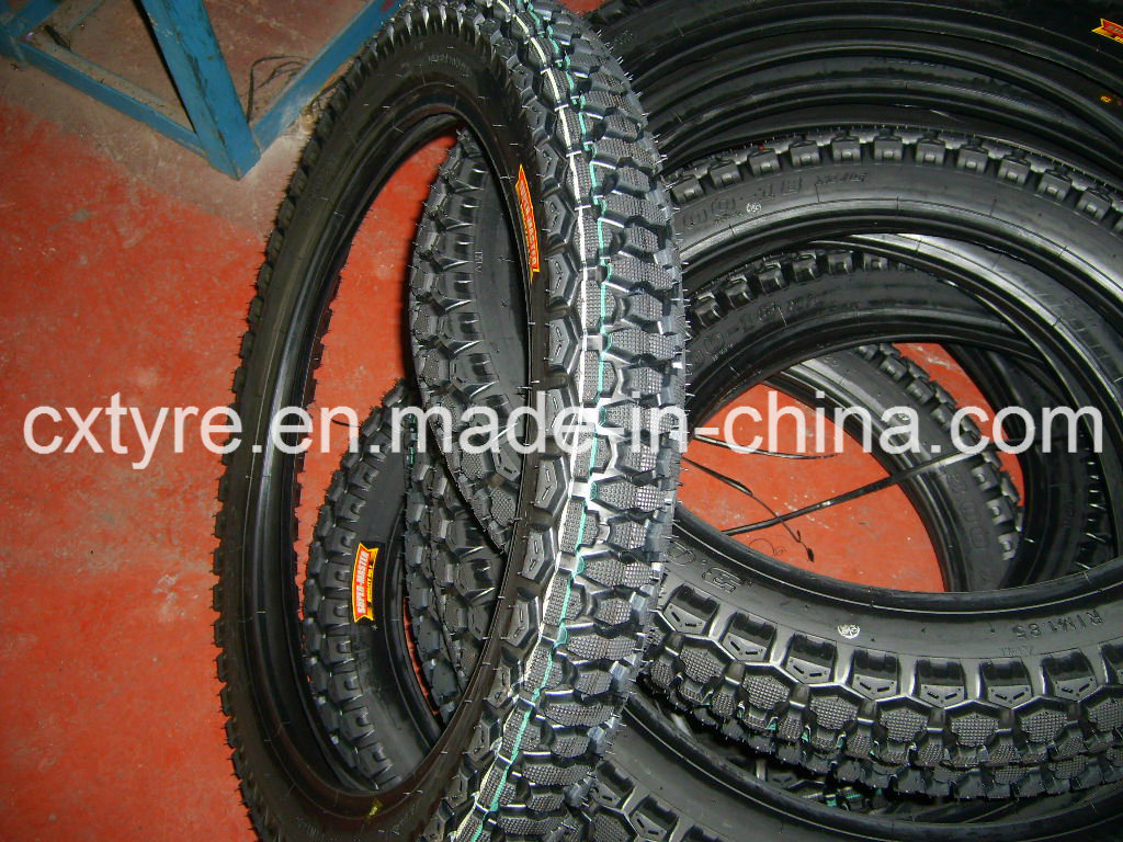 ISO9001: 2008 Manufacturer Supply Cross Country Pattern Motorcycle Tire (2.75-17 3.00-17 3.00-18)
