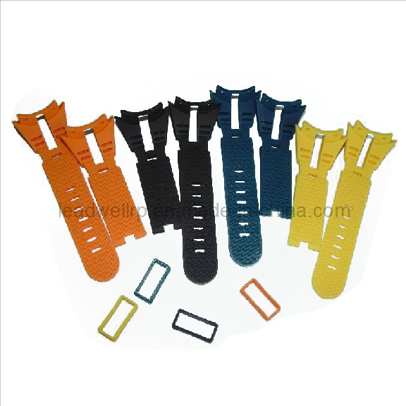 Watch Strap in Various Color Soft Rubber Vacuum Prototype (LW-05005)