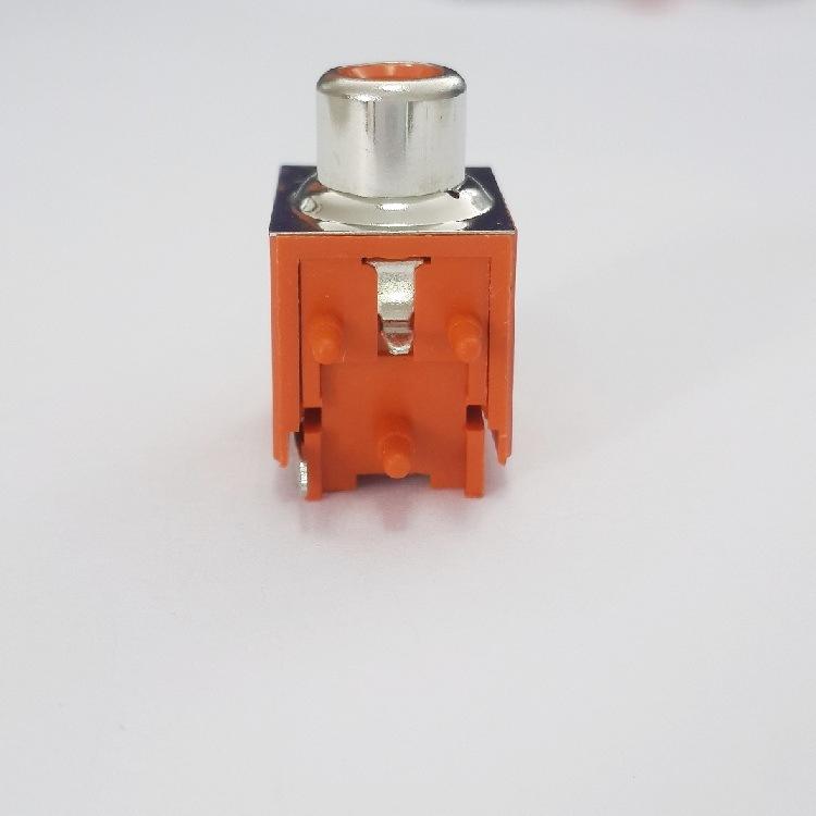 AV Socket with The Core Lotus Single-Hole RCA Socket Audio and Video Terminals AV1-8.4-15