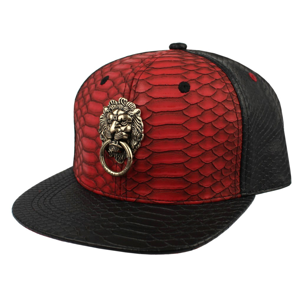 Snakeskin Faux Leather with Metal Cap
