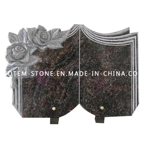 Black Stone Monument, Granite Grave Cross Tombstone / Headstone for Cemetery