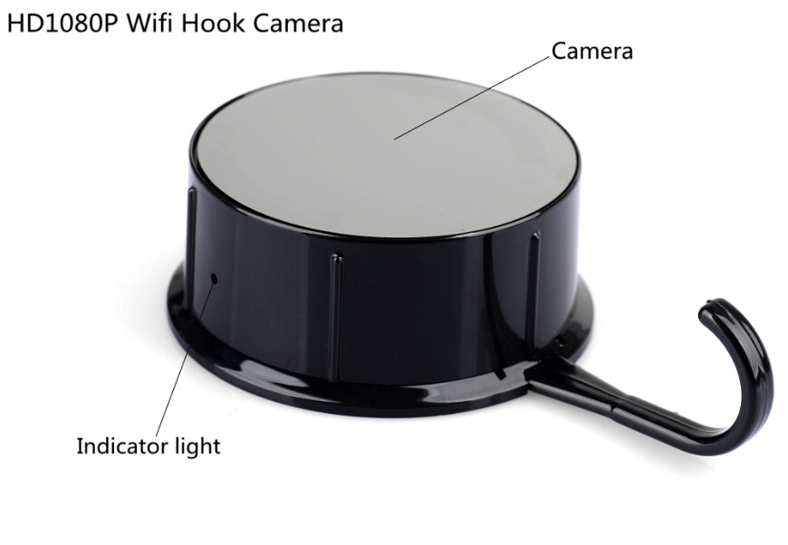 HD WiFi Hidden Video Recorder Camera Hook Wireless IP Home Security Monitor Surveillance Via Smart Phone APP