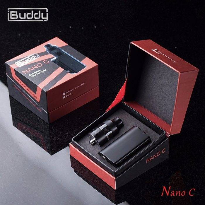 Nano C 900mAh 55W Sub-Ohm Top-Airflow Vaporizer Electronic Cigarette Mechanical Mod