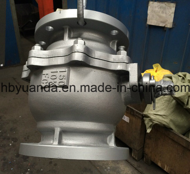 JIS 10K Cast iron 2 PC full bore ball Valve Q41F-10K