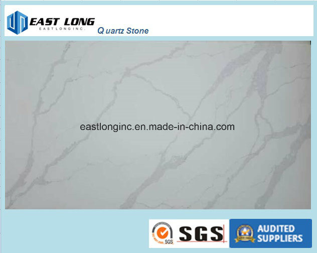 High Quality Calacatta Pattern Engineered Stone Quartz Slab for Kitchen Top/ Vanity Top/ Table Top/ Solid Surface/ Building Material
