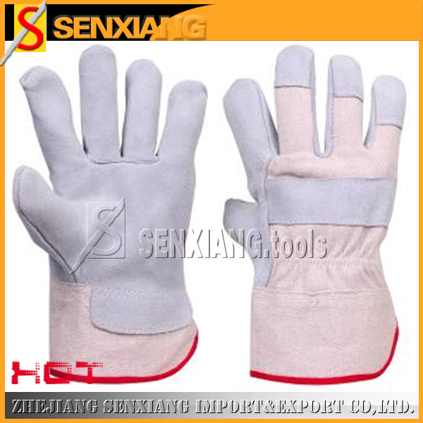 Industrial Leather Labour Working Safety Gloves (SX-SDF-2044)