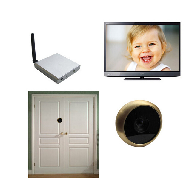 5.8g Mini Peephole Door Camera (24chs, 0.008lux, 480TVL, 90 view angle)