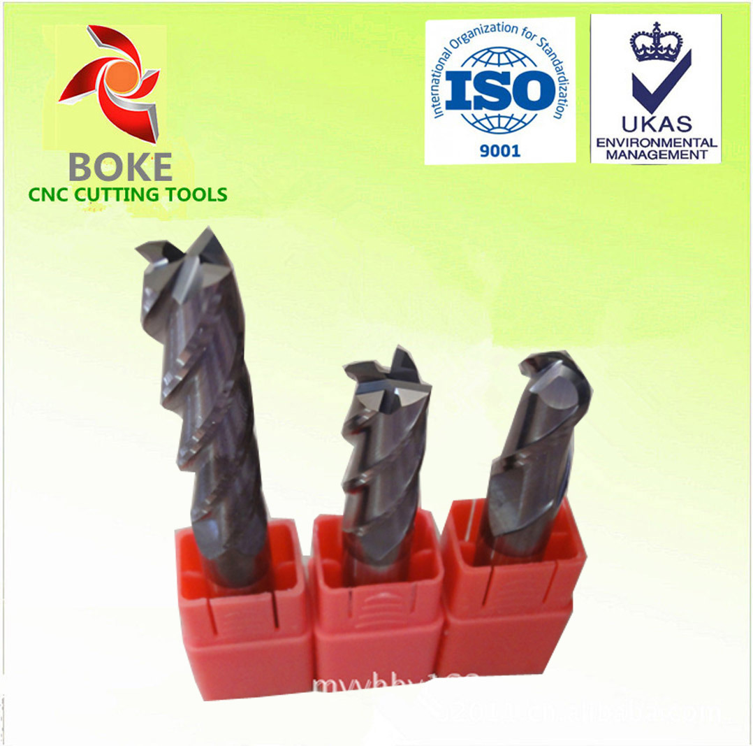 Tungsten Carbide 4 Flutes Milling Cutters