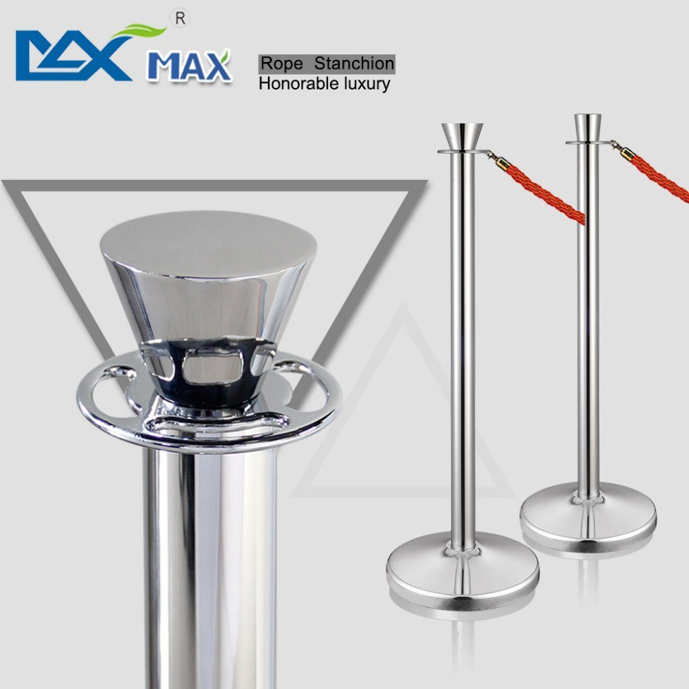 Crowd Control Blue Velet Rope Bank System Queue Line Railing Stanchions Pole Stand Barriers