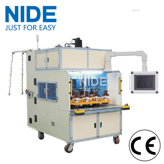 Eight Working Station Induction Motor Stator Coil Winding Machine