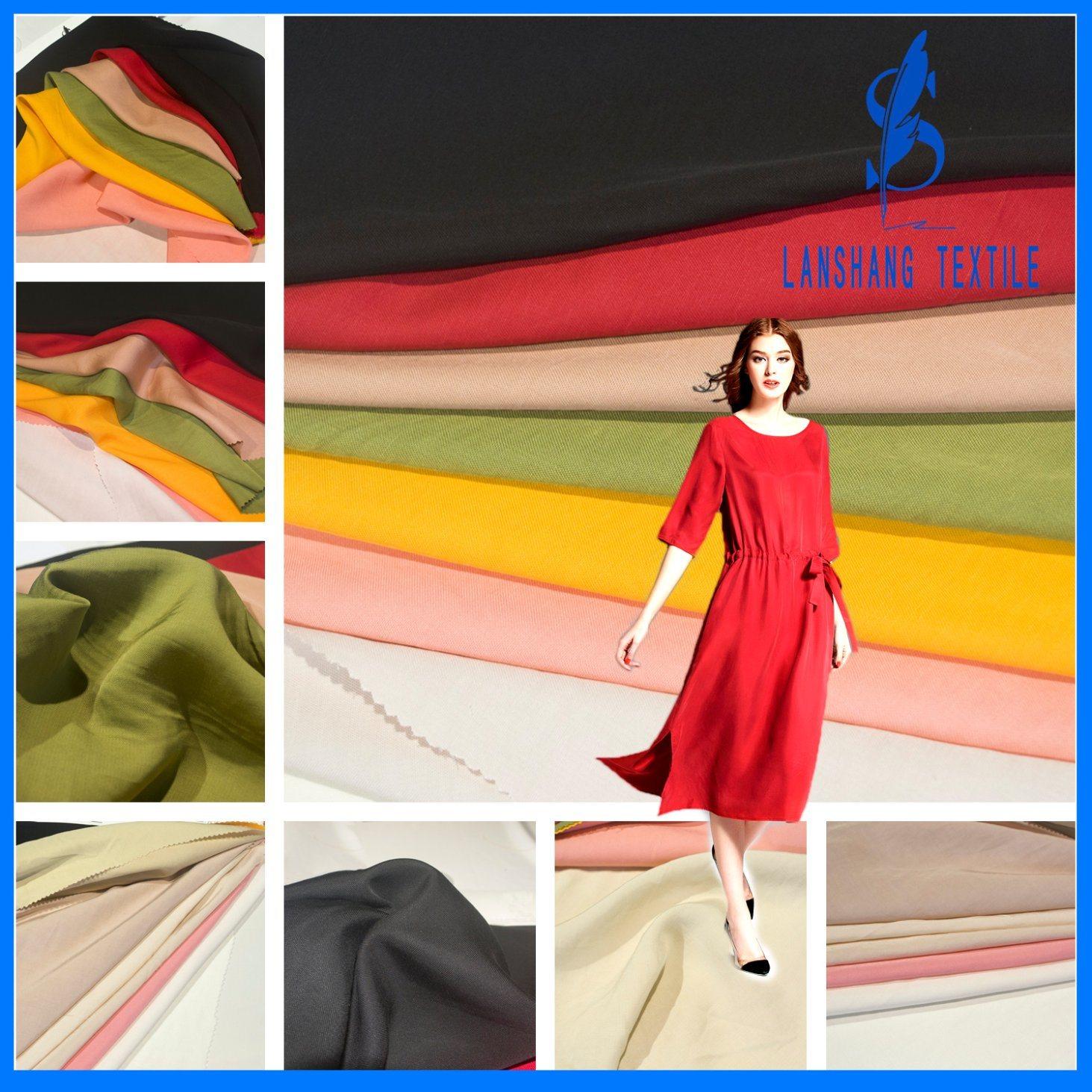 Viscose Mixture Rayon Tencel Linen Fabric for Dress Shirt Curtain