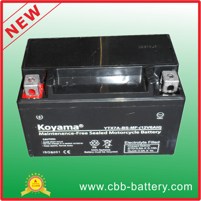 12V7ah Ytx7a-BS-Mf Maintenance-Free Motorcycle Battery