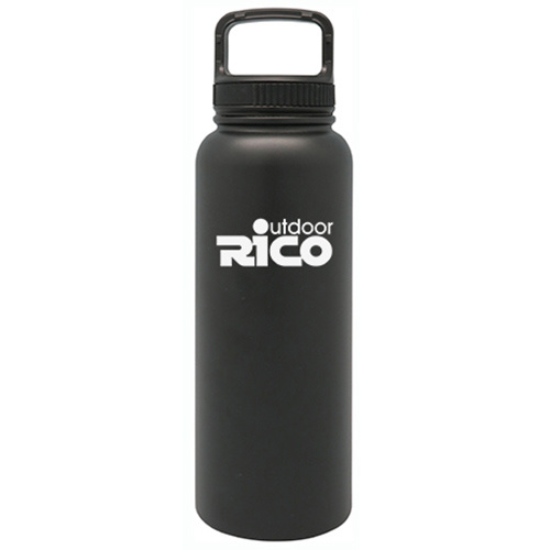 Durable Stainless Steel Vacuum Sports Bottle Black 40oz