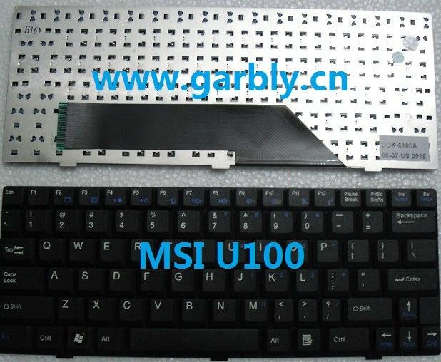 Notebook Laptop Keyboard for Msi U100 U100X U9 U90 U90X Us/Spain Keyboard