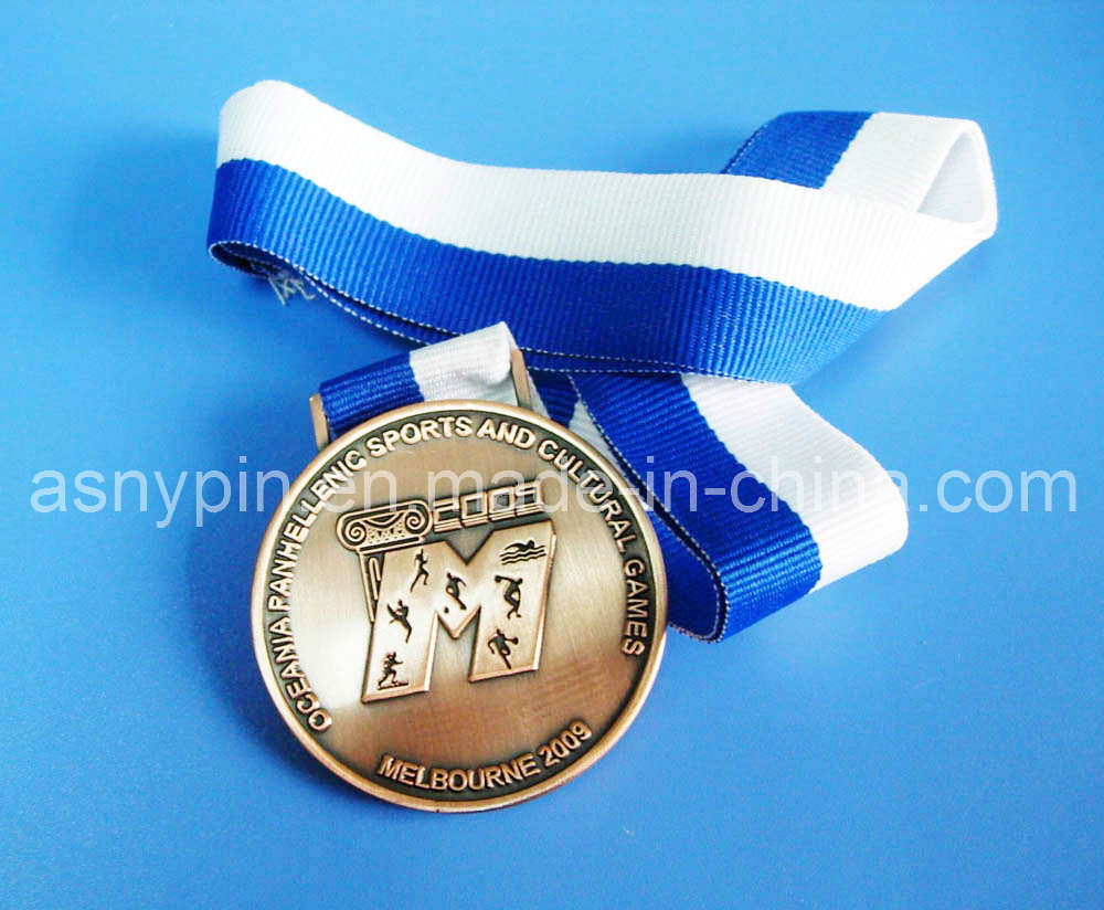 Custom Metal Sports Award Medals in Gold/Silver/Bronze (ASNY-MM-TM-074)