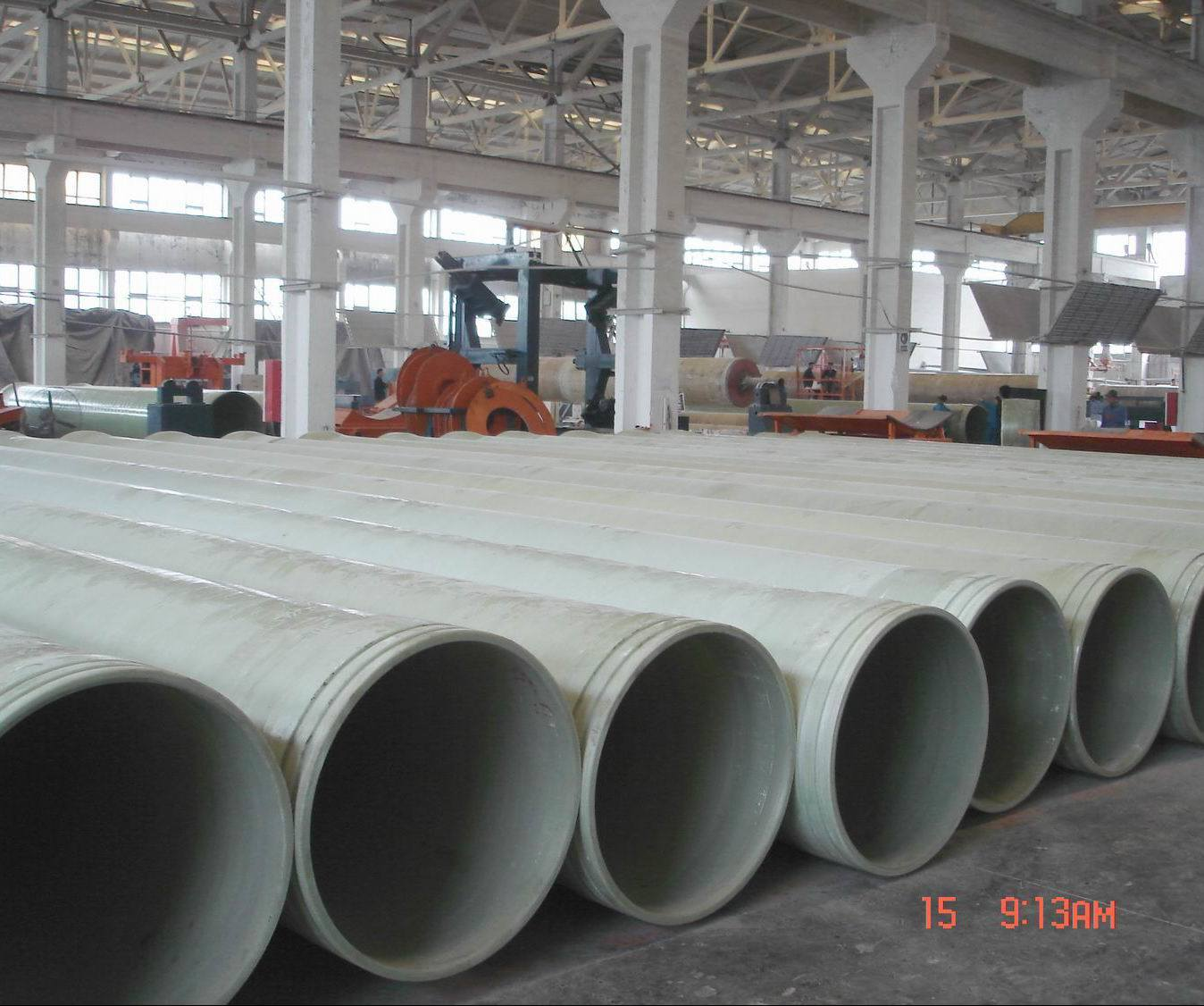 China frp pipe dn mm grp stack