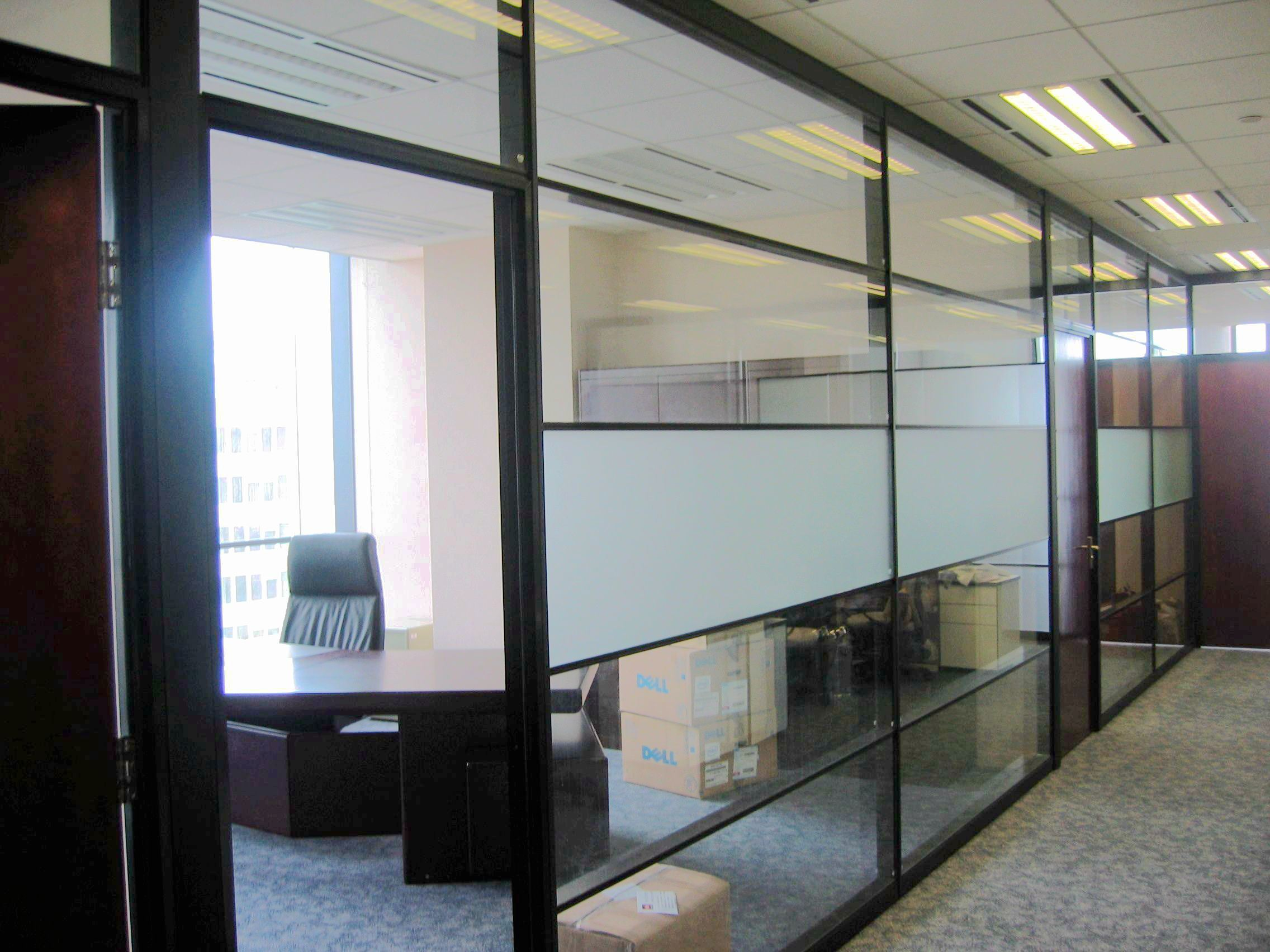 china movable office partition walls aluminum framed glass