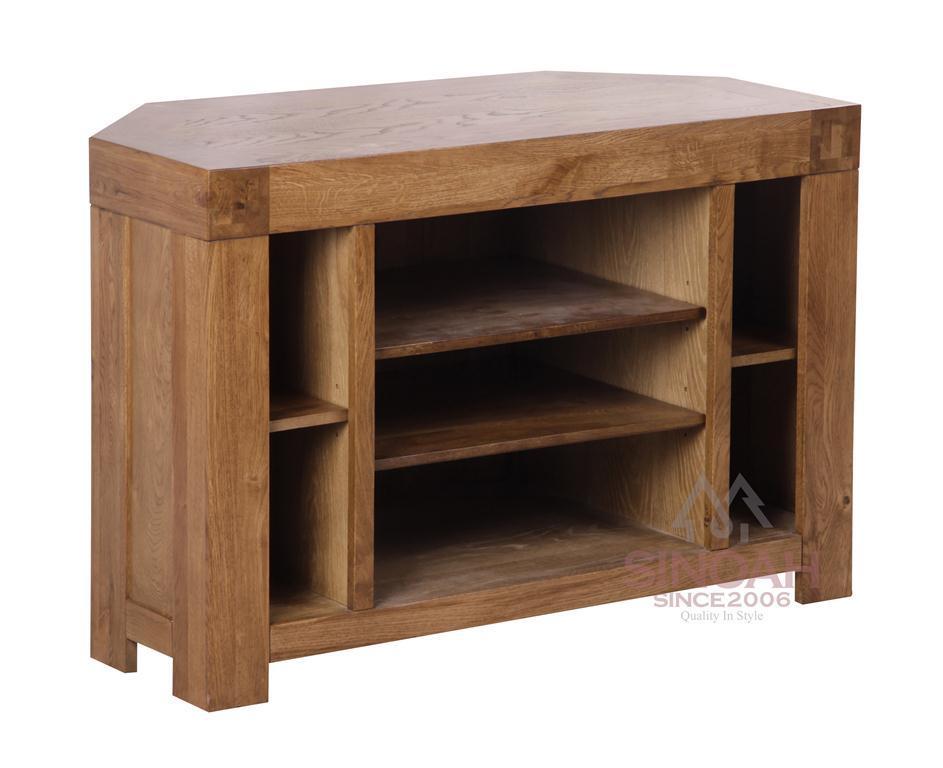 China Oak Wood Corner Tv Unit Tv Stand Living Room