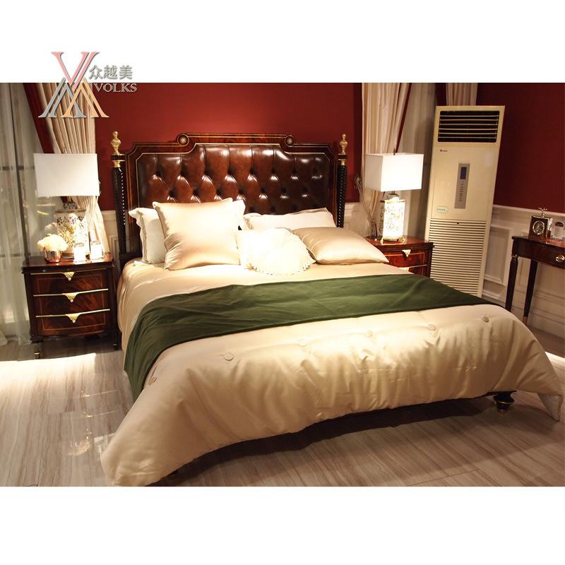 Leather Bedroom Kingsize Queen Size Bed (JME019bed)