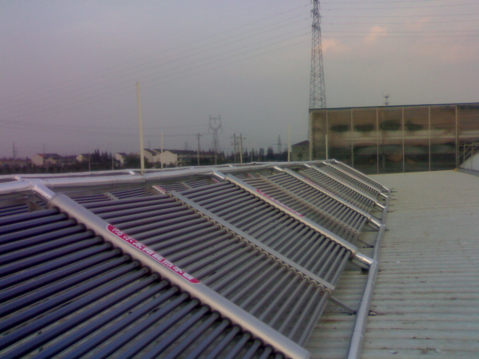 Solar Hot Water Project Collectors