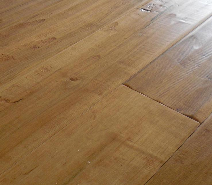 Hand Scraped Maple Oxford By Vintage Hardwood Flooring: Antique Maple Solid Hand Scraped Flooring Natural (MAP-12