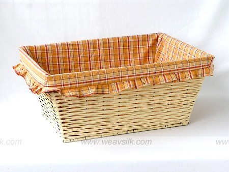 China wicker storage basket with liner china wicker storage basket wicker basket - Wicker hamper with liner ...