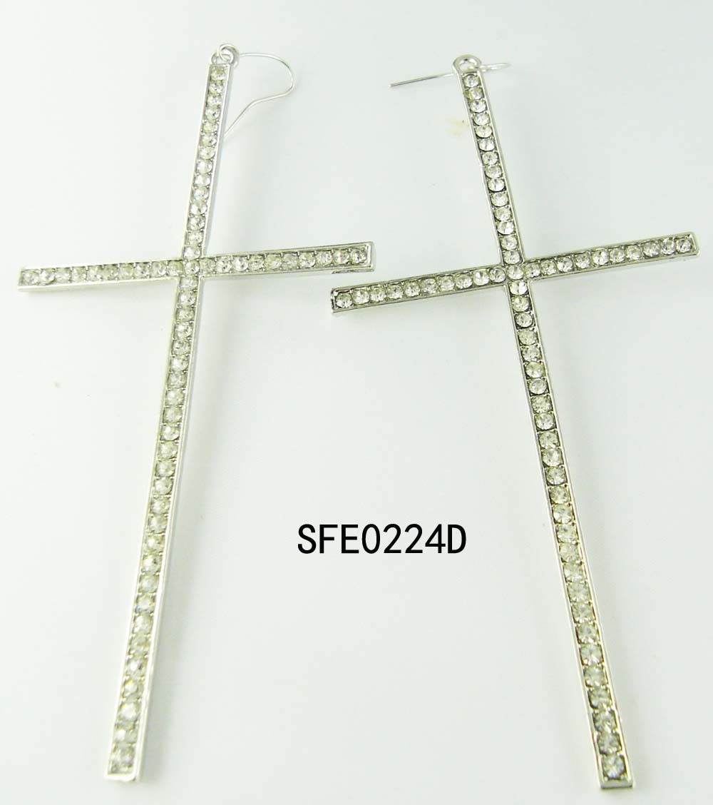 Fashion Jewelry Cross Earring (SFE0224A)