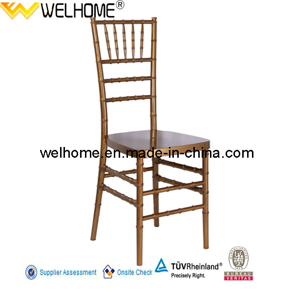 PC Material Gold Resin Tiffany Chair/Chiavari Chair for Party/Wedding/Event