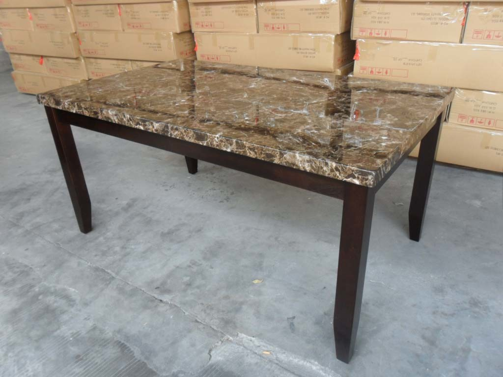 China faux marble dining table 2221t 3864 n china for Marble dining table