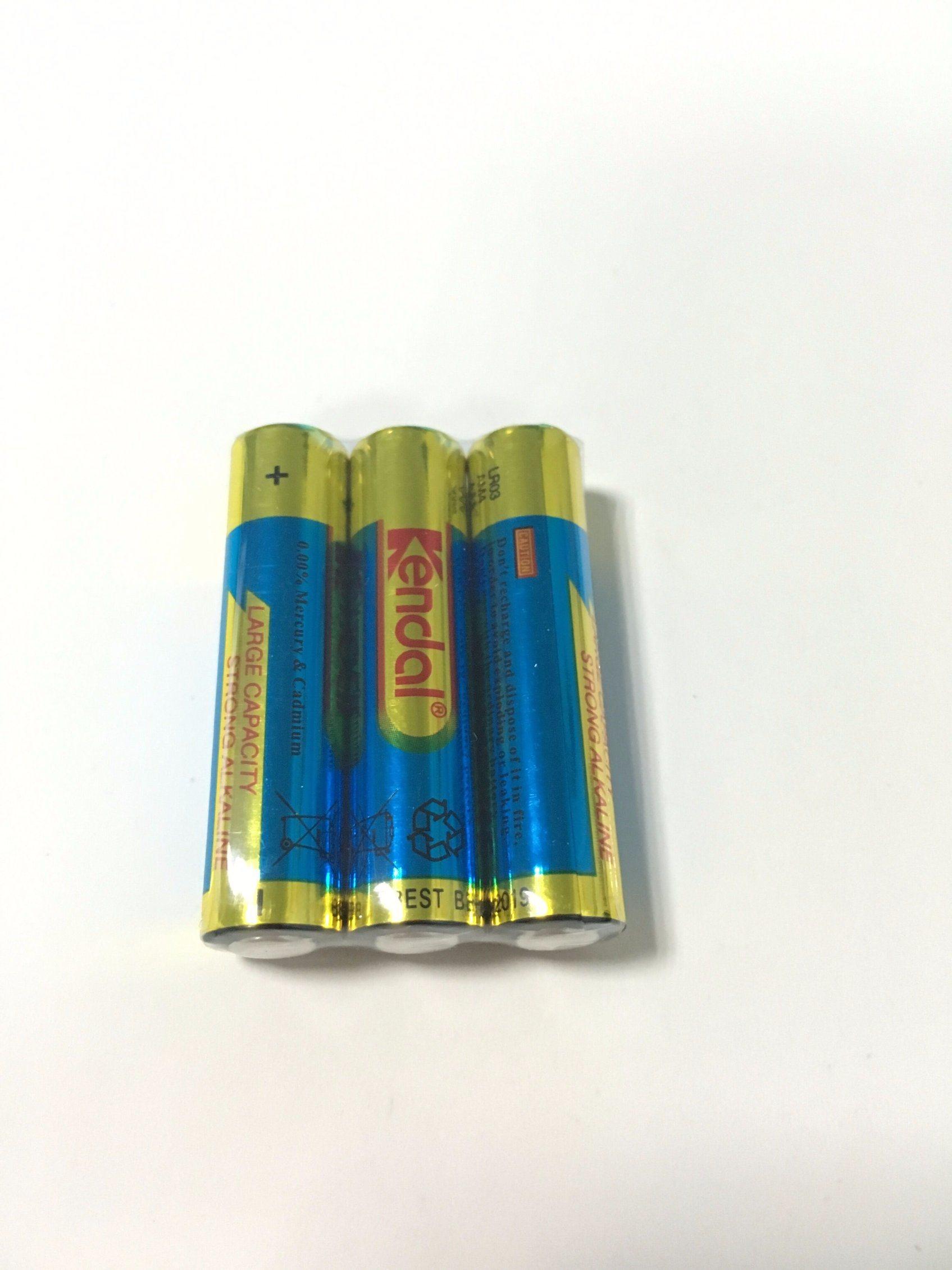 3PCS Shrink 1.5V Alkaline Battery AAA Lr03