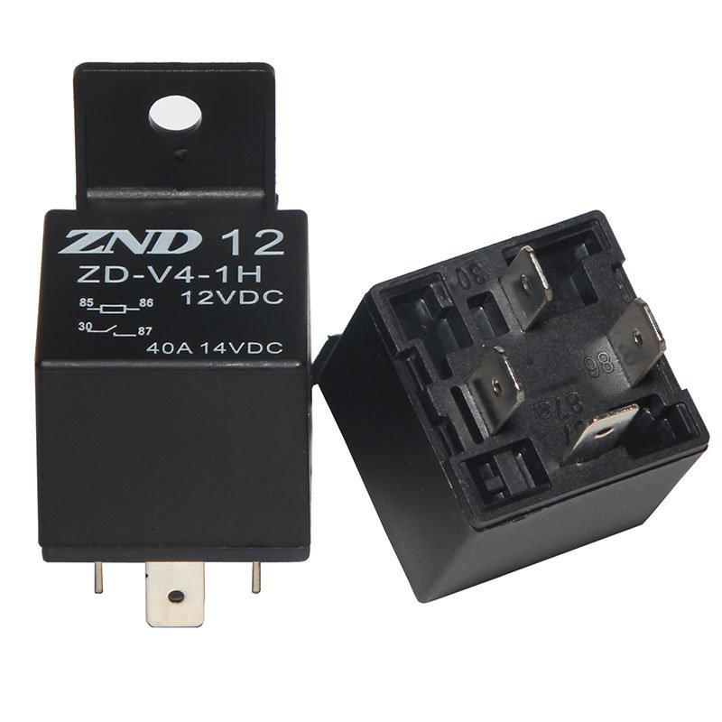 Four Pins Black Cover Automotive Relay 40A 12V Auto Parts