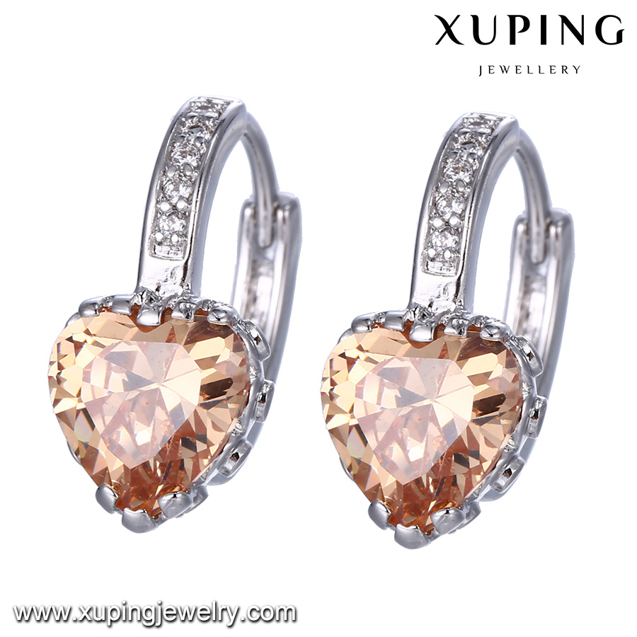 94583 Fashion Rhodium Heart Shaped Best Gift Jewelry Earring