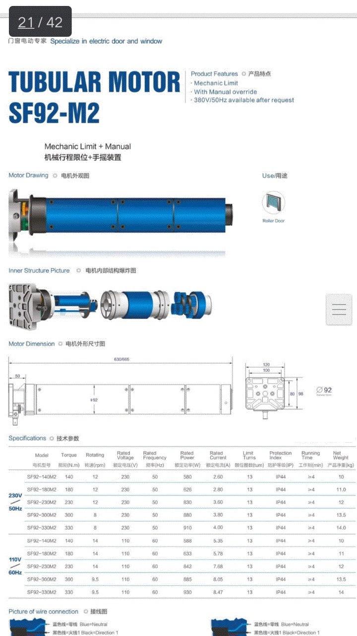 35mm Tubular Motor Accessories for Roller Shutter
