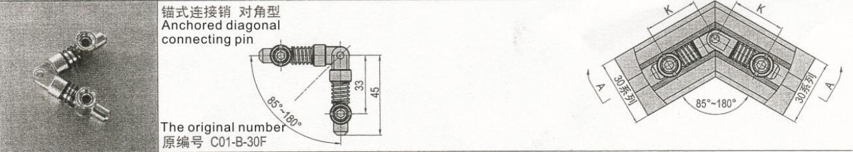 Achored Diagonal Connecting Pin
