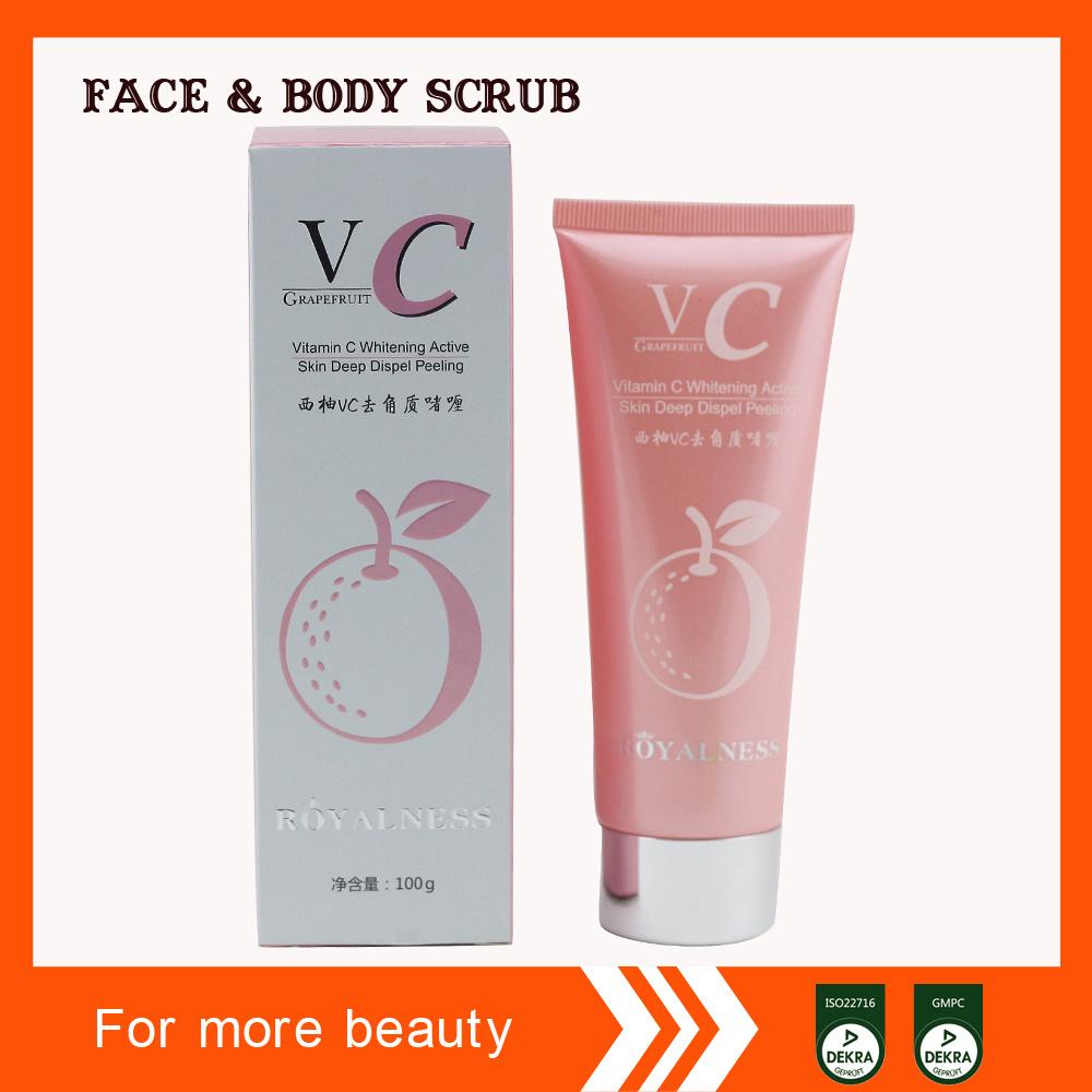 Vitamin C Whitening Active Skin Deep Dispel Peeling Face Scrub Gel