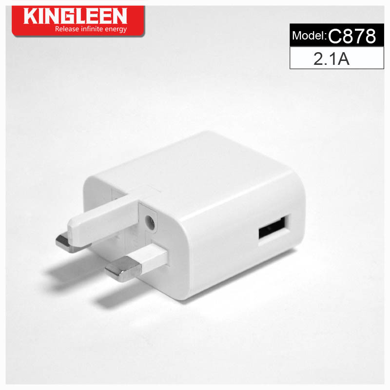 Kingleen C878 Single USB Battery Charger 5V2.1A Original Factory Production