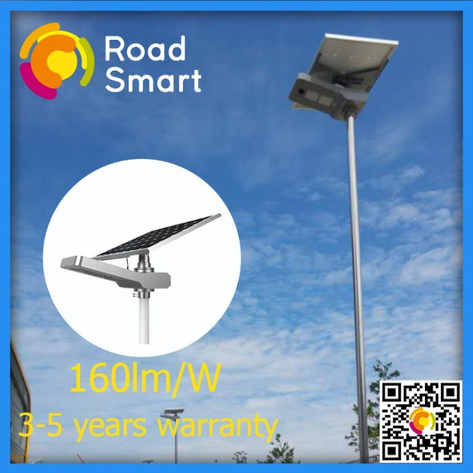 15W-50W All-in-One Intelligent Solar LED Street Light with 5-Year Warranty