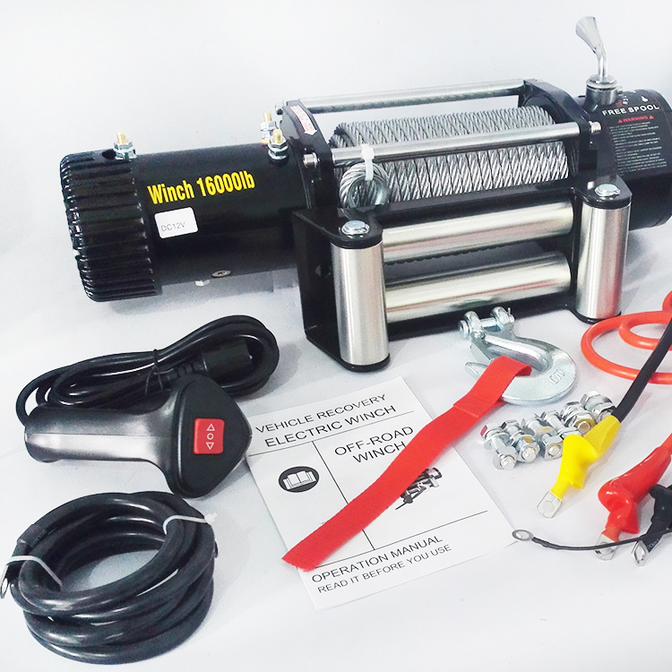 SUV 12V/24VDC Electric Winch Heavy Duty Winch with Ce (16000lb)