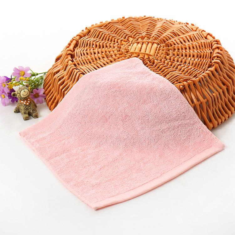 100% Bamboo Fiber White Baby Face Washcloth Promitiom Towel