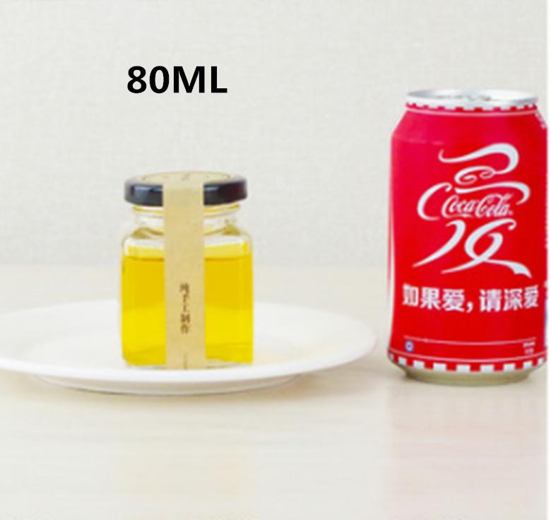 80ml Honey Pickles Lead-Free Glass Bottle