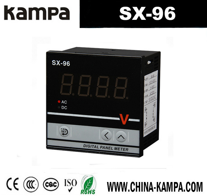 96X96mm Measuring DC Digital Analog Ammeter Electric Counter
