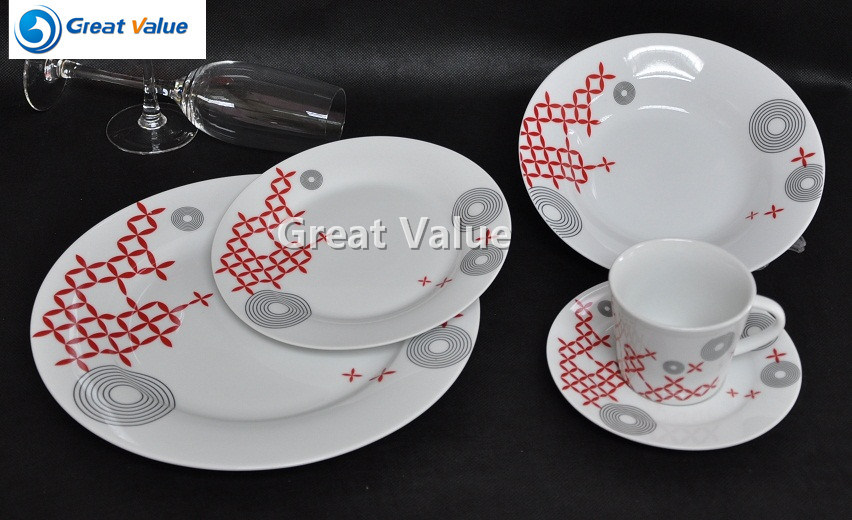 20PCS Porcelain Plate for Hotel and Restaurant Wholesale
