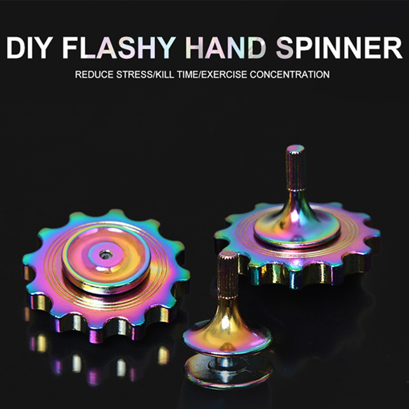 DIY Toy Metal Fidget Spinner Rainbow Flashy Hand Spinner