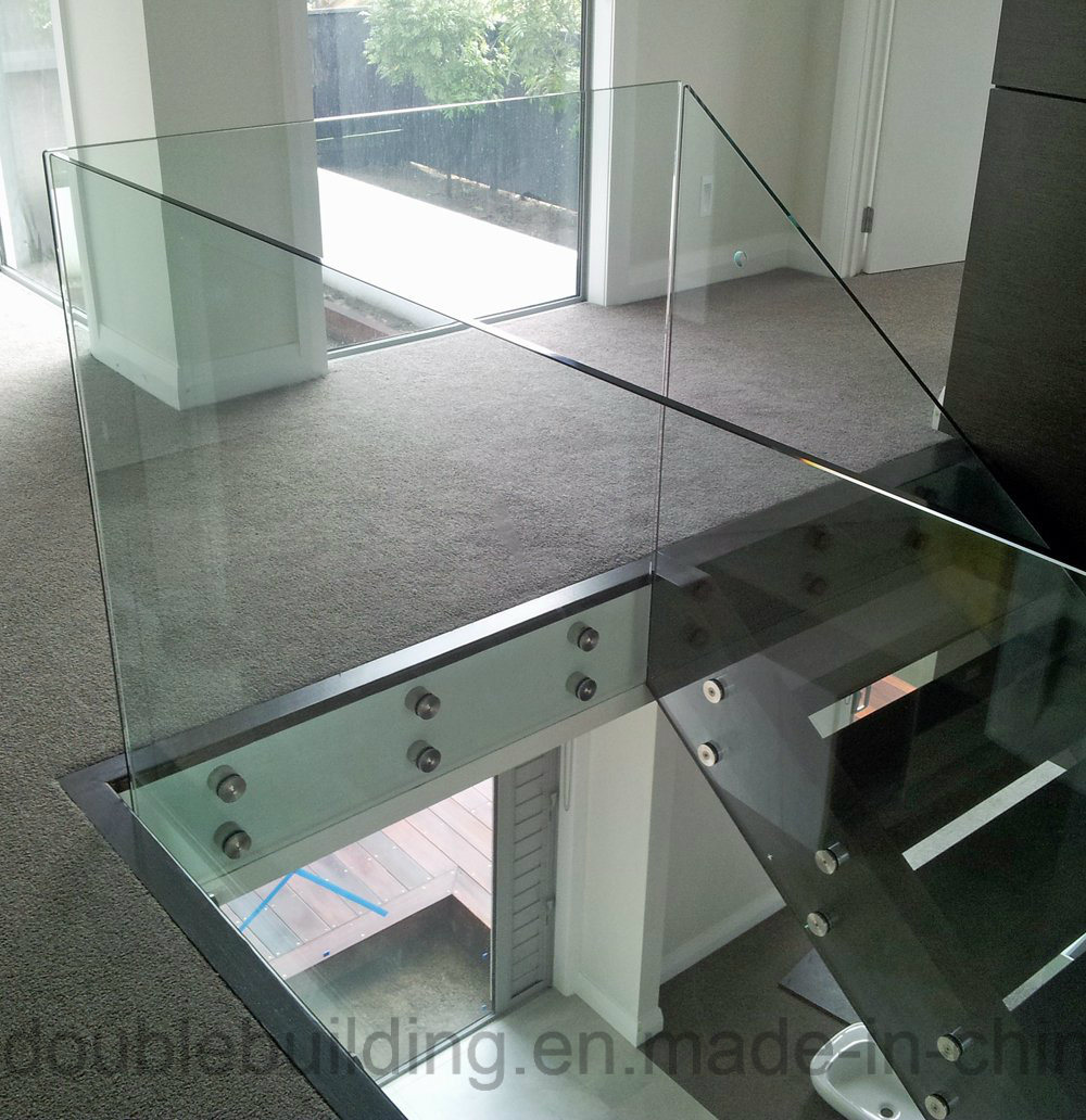 Outdoor Porch Glass Railing with Stainless Steel Glass Clamp