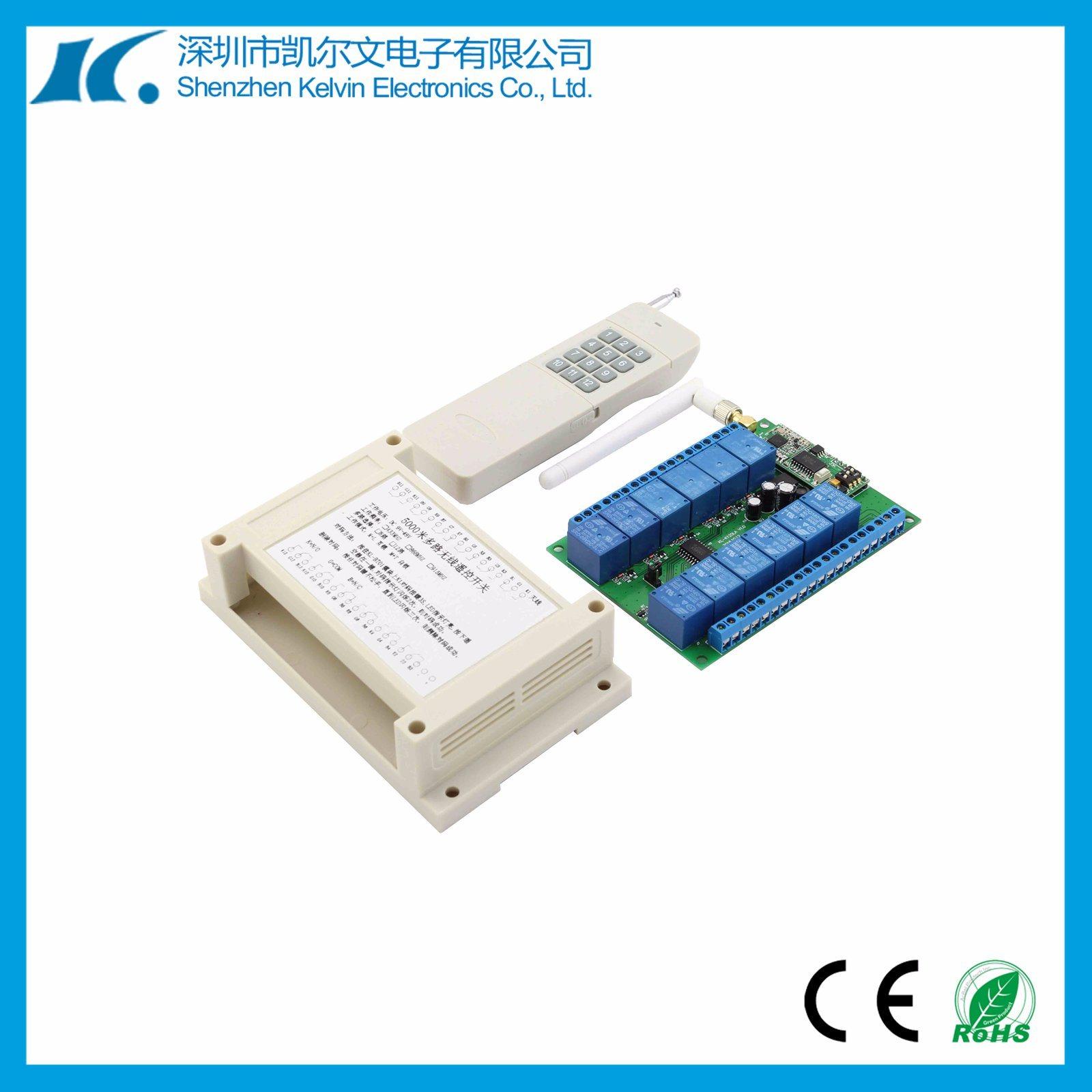 5km DC12V 12channel RF Remote Switch Kl-K120la V1.0-12CH