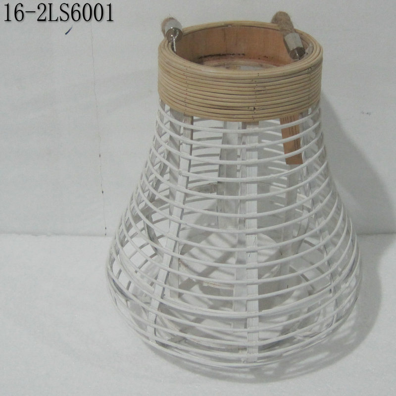 White, Black and Natural of Fashion Bamboo Lanterns with Handle