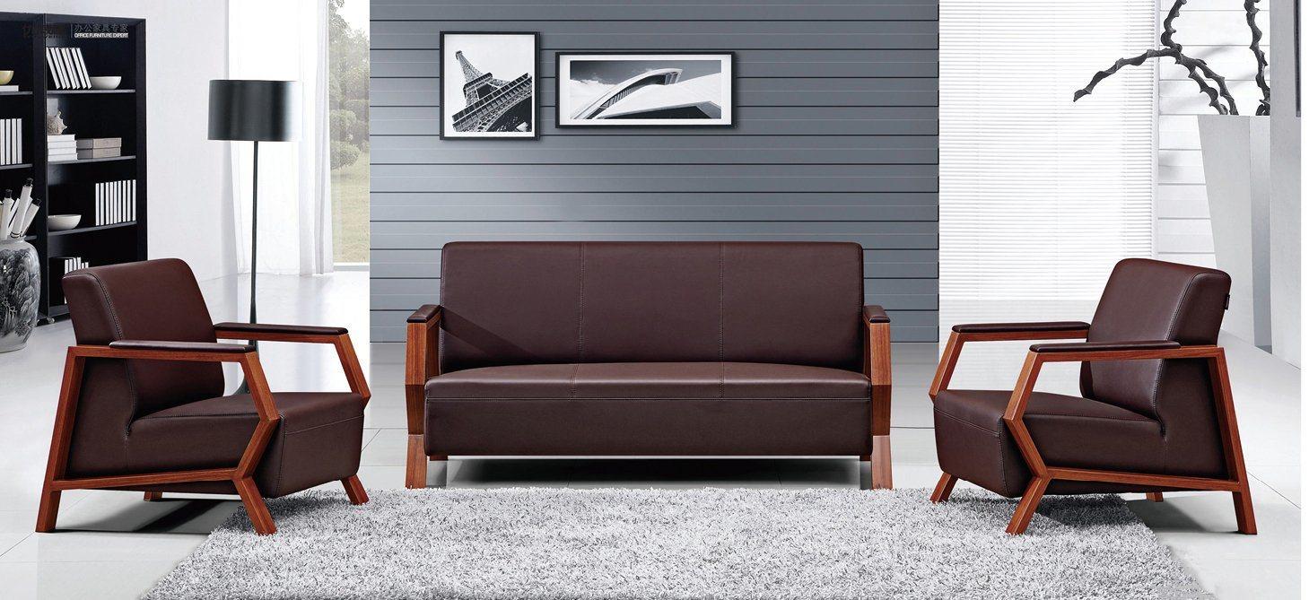 Best Selling Sofa Furniture Modern Leather Office Sofa (HX-CF015)